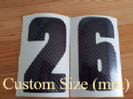 Carbon Fibre Race Number (MM) Custom Sizes